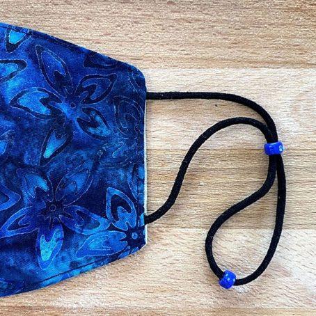 Blue Batik Fabric Face Mask
