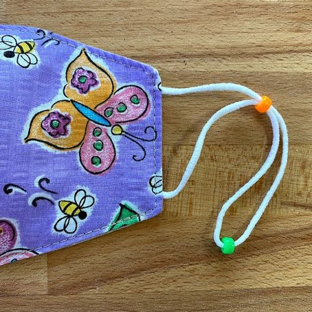 Colorful Butterflies Children's Fabric Face Mask