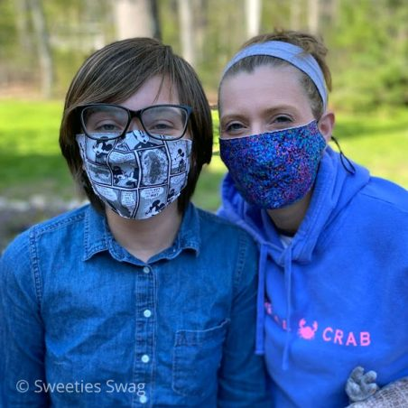 Slow the Spread, Covid-19, Coronavirus, Kids and Adults Face Masks