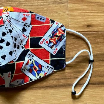 Gambler's Gambling Cards, Pocket, Gaming Fabric Face Mask