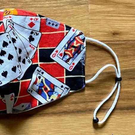 Gambler's Gambling Cards, Pocket, Gaming Fabric Face Mask
