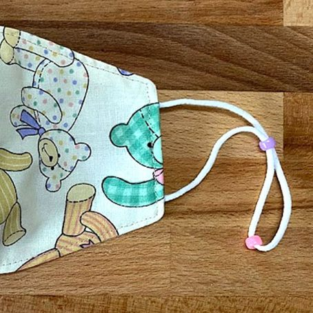 Kids Children's Teddy Bear Face Mask
