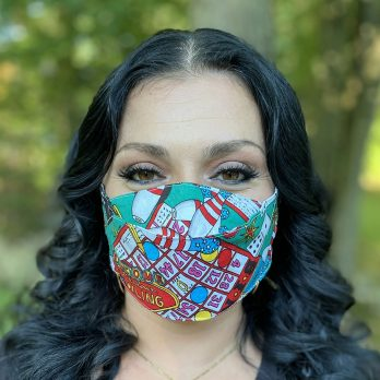 3D Origami Bingo Face Mask
