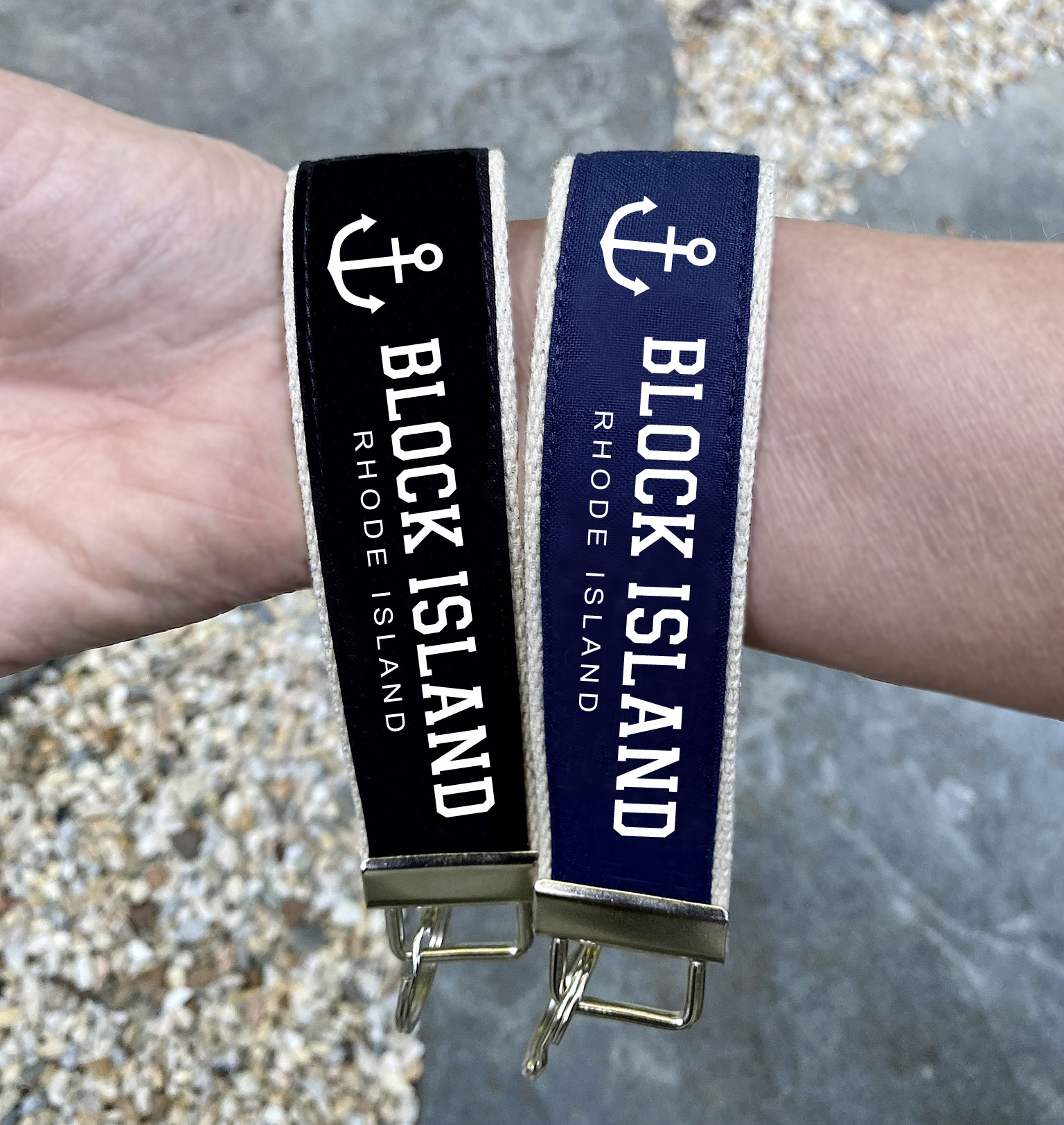 Block Island Wristlet Key Fob Chain Gifts