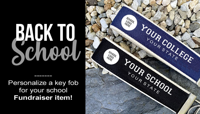 Personalize a key fob for your school Fundraiser item!