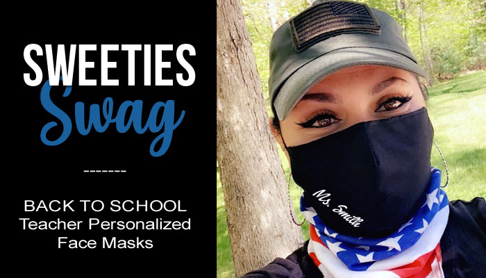 Back to School Personalized Teacher Face Masks