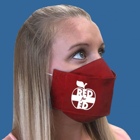 """Red for Ed Face Mask (RedforEd, """"Red for Ed"""")"""