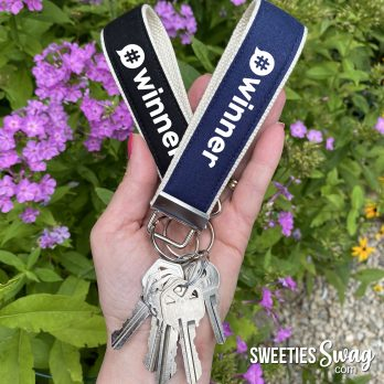Sweepstakes Wristlet Key Fobs