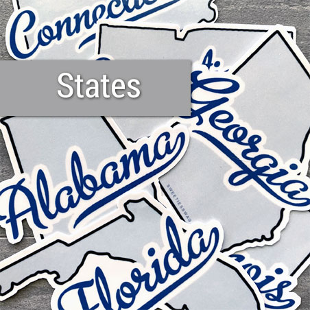 Die-cut State Vinyl Stickers Bundle
