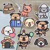 "2-1/2"" Kawaii Dog vinyl laptop, water bottle, and journal stickers Bundle Deal"