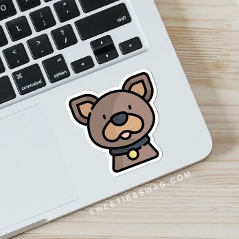 Kawaii Dog Vinyl Laptop, Water Bottle, Journal Stickers