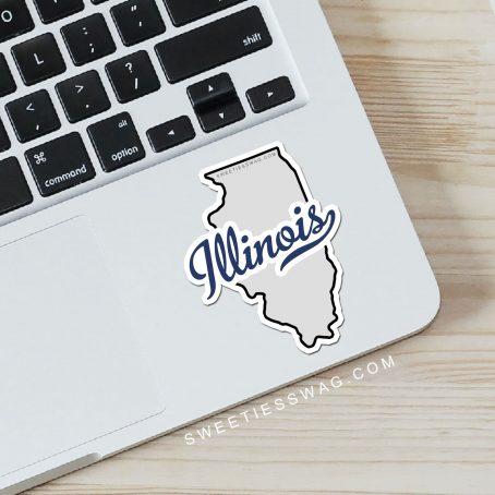 "State of Illinois ""Die Cut"" Vinyl Stickers"