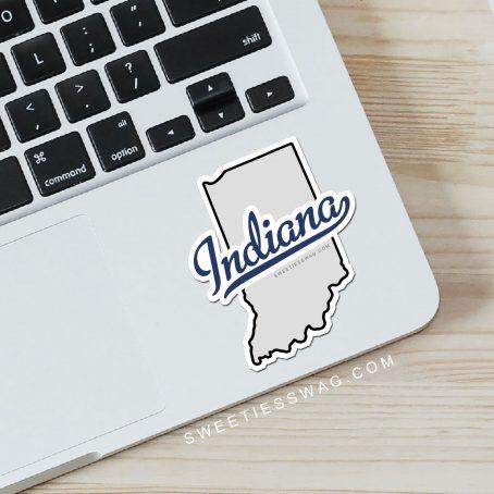 "State of Indiana ""Die Cut"" Vinyl Stickers"