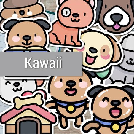 Kawaii Die-Cut Stickers Bundle