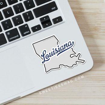"""State of Louisiana """"Die Cut"""" Vinyl Sticker"""