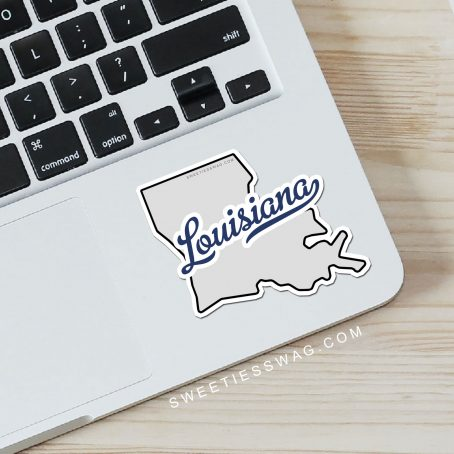 "State of Louisiana ""Die Cut"" Vinyl Sticker"
