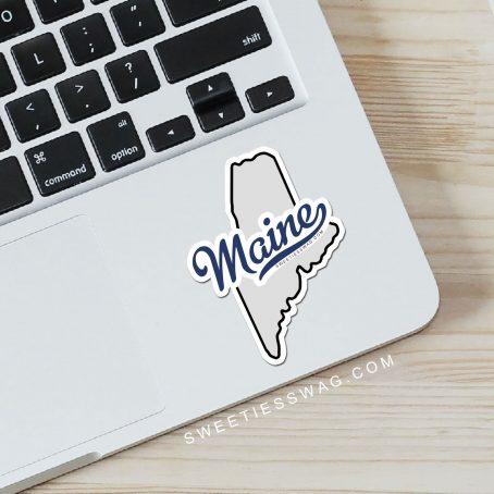 "State of Maine ""Die Cut"" Vinyl Stickers"