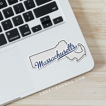 "State of Massachusetts ""Die Cut"" Vinyl Stickers"