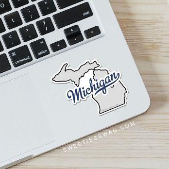 "State of Michigan ""Die Cut"" Vinyl Stickers"