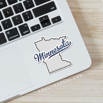 """State of Minnesota """"Die Cut"""" Vinyl Stickers"""