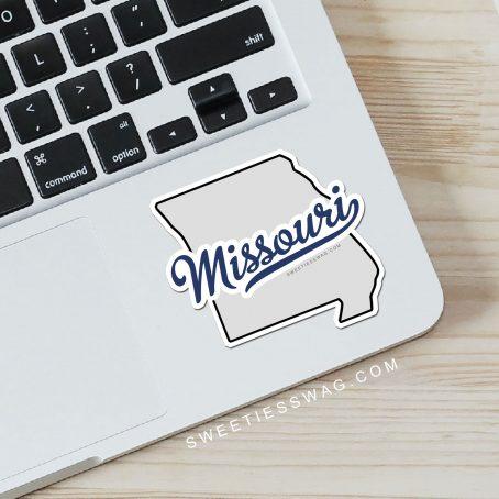 """State of Missouri """"Die Cut"""" Vinyl Sticker"""