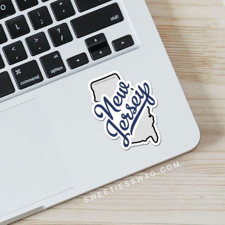 "State of New Jersey ""Die Cut"" Vinyl Stickers"