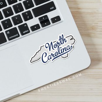 "State of North Carolina ""Die Cut"" Vinyl Stickers"