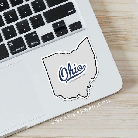 "State of Ohio ""Die Cut"" Vinyl Stickers"