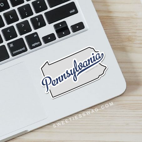 "State of Pennsylvania ""Die Cut"" Vinyl Sticker"