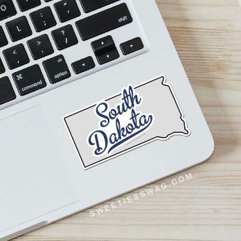 "State of South Dakota ""Die Cut"" Vinyl Stickers"