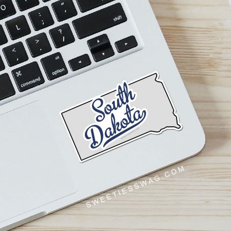 "State of South Dakota ""Die Cut"" Vinyl Stickers"