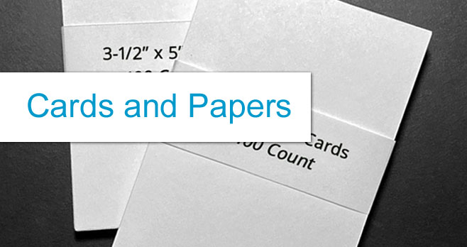 "Sweepstakes Supplies, 3-1/2"" x 5"" cards and papers"
