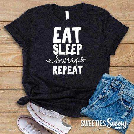 Eat. Sleep. Sweeps. Repeat Sweepstakes Novelty Unisex T-Shirt