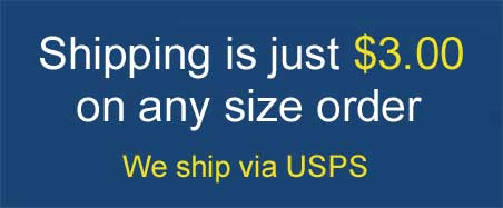 Shipping is just 3.00 on any size order