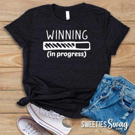 Winning in Progress Sweepstakes Novelty Unisex T-Shirt