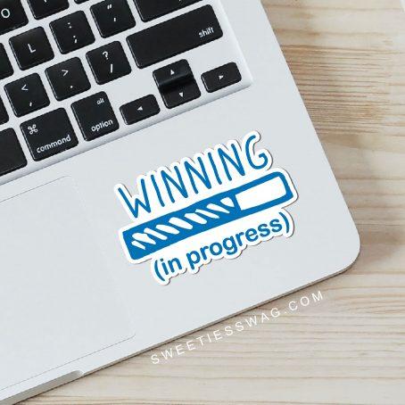 Winning in Progress Die-Cut Sticker